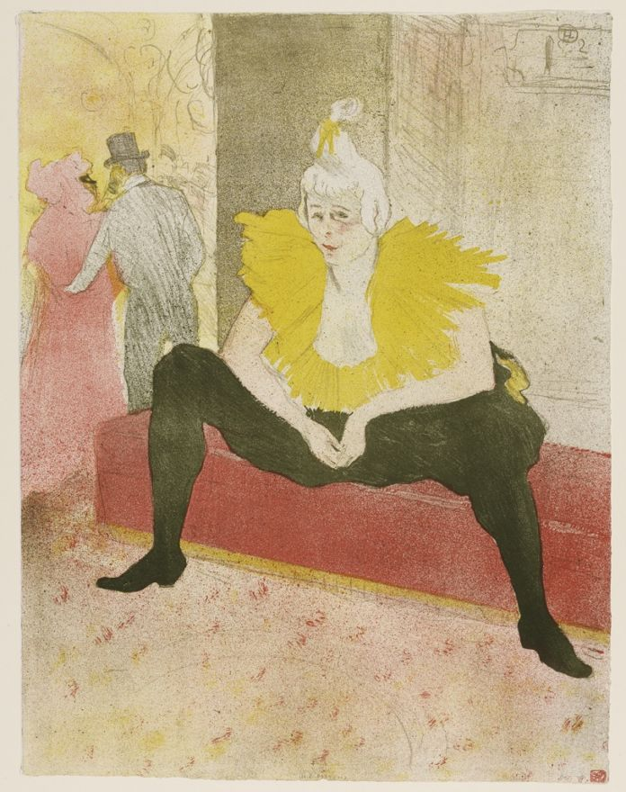 Henri de Toulouse-Lautrec, The Seated Clowness (Mademoiselle Cha-U-Kao), 1896 - Budapest, Galleria Nazionale