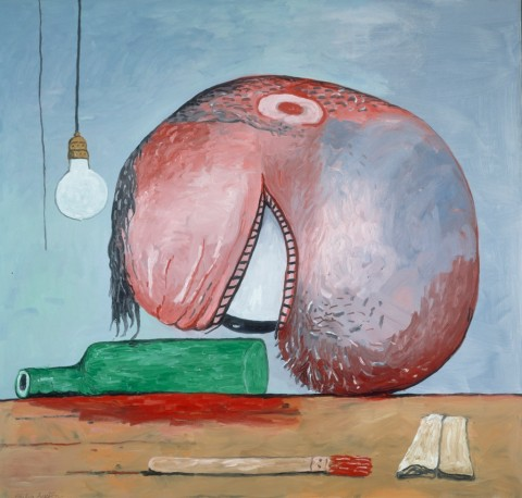 Philip Guston, Head and Bottle, 1975