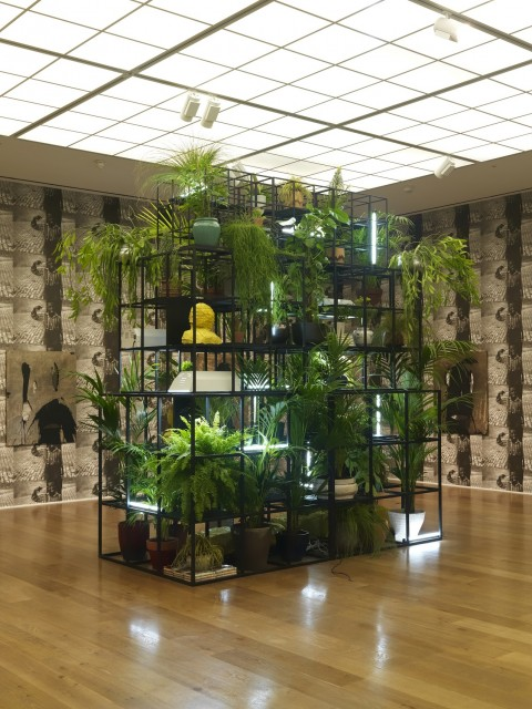Rashid Johnson, Fatherhood, 2015 - © Rashid Johnson, Courtesy l'artista e Hauser & Wirth, Foto Alex Delfanne