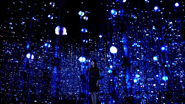 teamLab - installation view at Pace Gallery, New York 2016