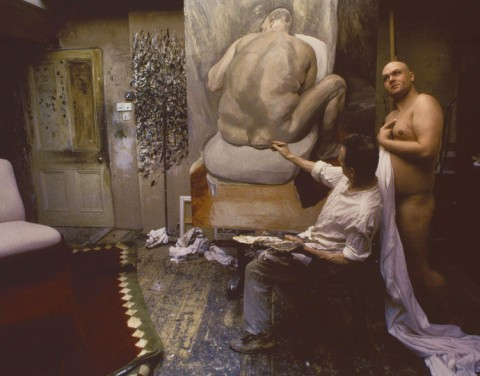 Lucian Freud con Leigh Bowery, 1992