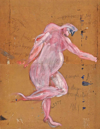 Il nudo attribuito a Francis Bacon (foto Christie's)