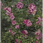 Julian Schnabel, Rose Painting (Near Van Gogh's Grave) IX, 2015, oil, plates, and bondo on wood, 182,88 x 152,4 x 30,48 cm