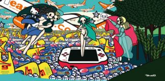 Tomoko Nagao, Botticelli. The Birth of Venus with Baci, Esselunga, PSP, and EasyJet, 2012 - coll. privata