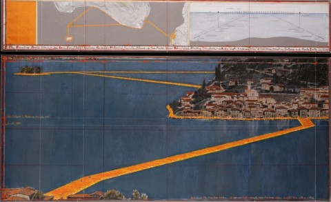 Christo, Floating Piers (Project for Lake Iseo, Italy) – coll. privata – photo André Grossmann - (c) Christo 2015