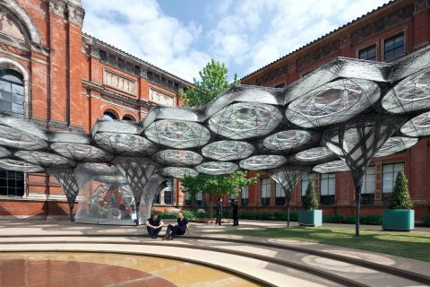 Elytra Filament Pavilion at the V&A (c) NAARO