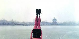 Li Wei, Liwei falls to the ice hole, Beijing 31 01 2004