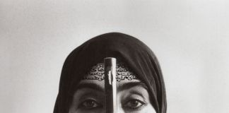 Shirin Neshat, Rebellious Silence, Women of Allah series, 1994, B&W RC print & ink, photo by Cynthia Preston ©Shirin Neshat (courtesy Barbara Gladstone Gallery, New York and Brussel)