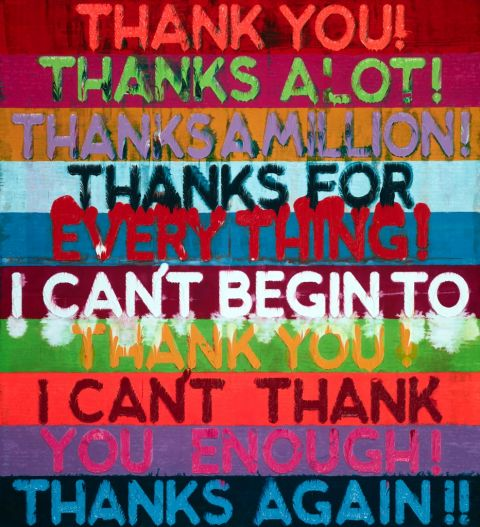 Mel Bochner, Thank you, 2015 - courtesy TOTAH Gallery