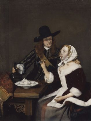 Gerard ter Borch, A Gentleman pressing a Lady to drink, ca. 1658-1659, Royal Collection Trust - © Her Majesty Queen Elizabeth II 2016