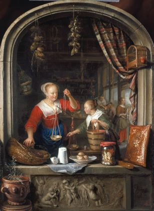 Gerrit Dou, The Grocer's Shop, 1672, Royal Collection Trust - © Her Majesty Queen Elizabeth II 2016