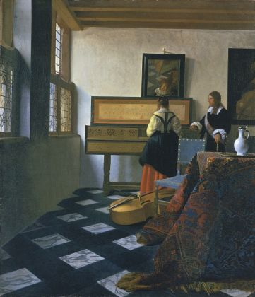 Johannes Vermeer, Lady at the Virginals with a Gentleman, primi anni del 1660, Royal Collection Trust - © Her Majesty Queen Elizabeth II 2016