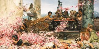 Sir Lawrence Alma-Tadema, The Roses of Heliogabalus, 1888, Colección Pérez Simón, Mexico. Photo © Arturo Piera