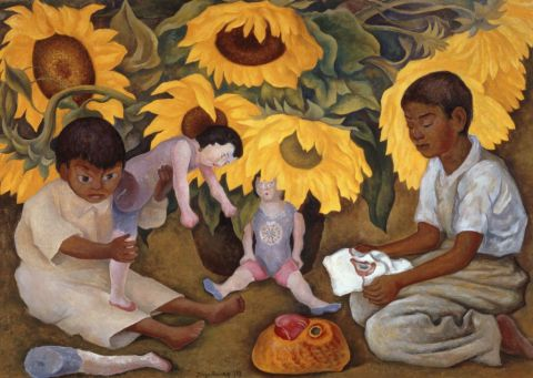 Diego Rivera, Girasoli, 1943 - The Jacques and Natasha Gelman Collection of 20th Century Mexican Art and The Vergel Foundation, Cuernavaca