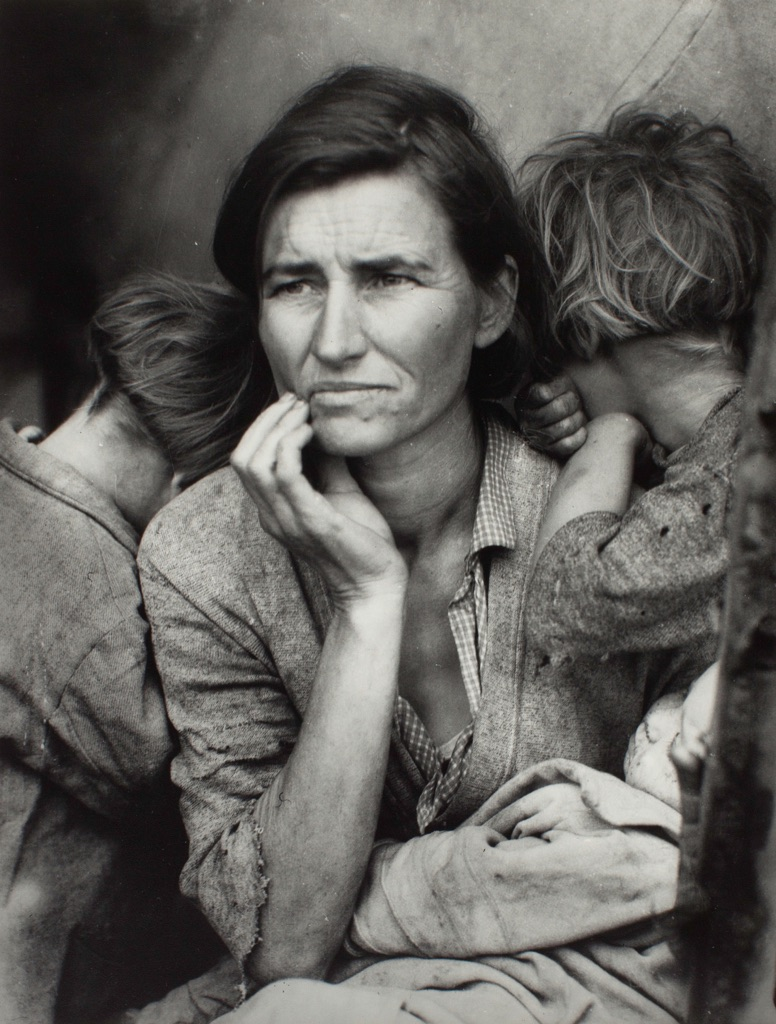 Dorothea Lange, Migrant Mother, 1936. Gelatin silver print on paper, 318 x 241 mm. The Sir Elton John Photography Collection, courtesy Tate, London