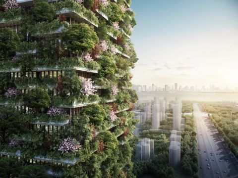 Nanjing Vertical Forest - courtesy SBA – Stefano Boeri Architetti