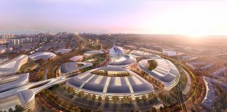 Astana Expo City 2017 - masterplan by Adrian Smith + Gordon Gill Architecture (AS+GG)