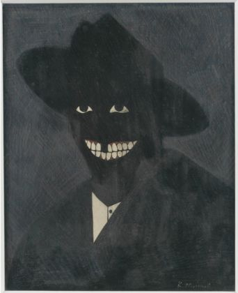 Kerry James Marshall, A Portrait of the Artist as a Shadow of His Former Self, 1980 - Collection of Steven and Deborah Lebowitz - © Kerry James Marshall - Photo Matthew Fried, © MCA Chicago