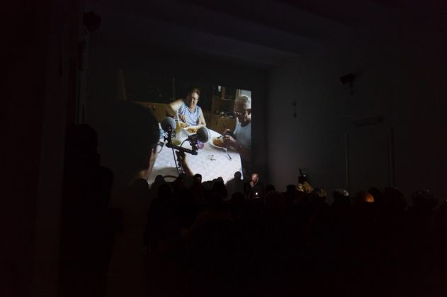 Talk at . Museolaboratorio, Città Sant'Angelo 2017. Photo Claudia Petraroli