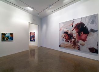 Richard Patterson. Installation view at Goss Gallery, Dallas