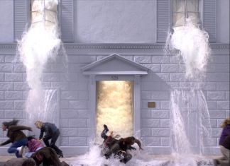 Bill Viola, The Deluge (Going Forth By Day), 2002, 36'. Installazione video-audio. Courtesy Bill Viola Studio
