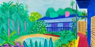 David Hockney, Garden, 2015. Collection of the artist. © David Hockney. Photo Richard Schmidt