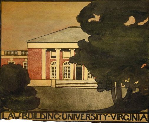 Georgia O'Keeffe, Untitled (Law Building - University of Virginia), 1912-1914, Watercolor on paper