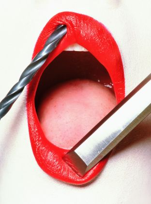Irving Penn, Lips for Vogue US, 1995