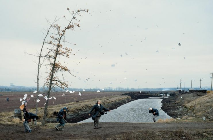 Jeff Wall, A Sudden Gust of Wind, 1993