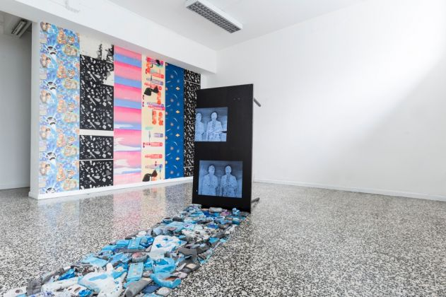 Ludovica Gioscia. The Peacock Stage. Installation view at T-space, Milano 2017. Photo Ruei Wu
