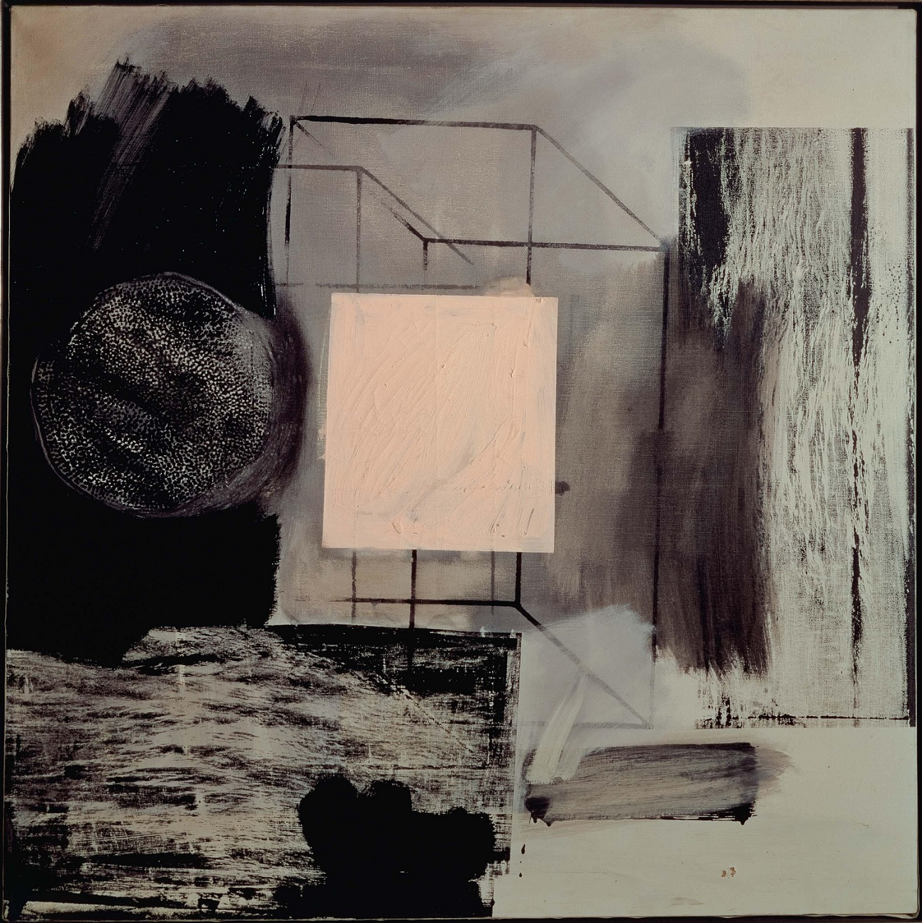 Robert Rauschenberg, Renascence, 1962, ol and silkscreen ink on canvas, 91.4 x 91.4 cm