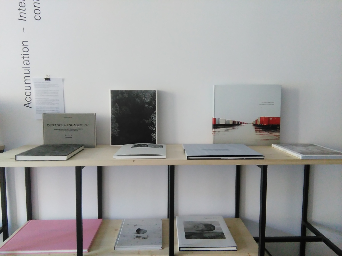THROUGH THE BOOK(S) #1 An Investigation of the laws observable in the composition, dissolution and restoration of land, a cura di Fabio Barile e Niccolò Fano, exhibition view at Leporello, Roma