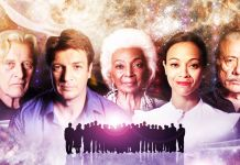 The Real History of Science Fiction Picture Shows: From Left: Edward James olmos, Rutger Hauer, Zoe Saldana, Nichelle Nichols, Nathan Fillion