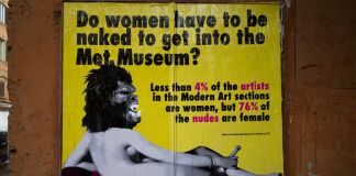Guerrilla Girls, Cheap Street Poster Art Festival 2017, Bologna, photo by Stefano Scheda