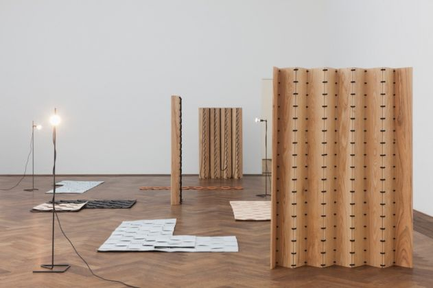 Leonor Antunes. The last days in chimalistac. Exhibition view at Kunsthalle Basel, 2013
