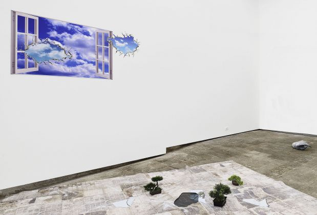 Catherine Biocca, Tourist Visa, 2017. Installation view at Frutta Gallery, Roma 2017