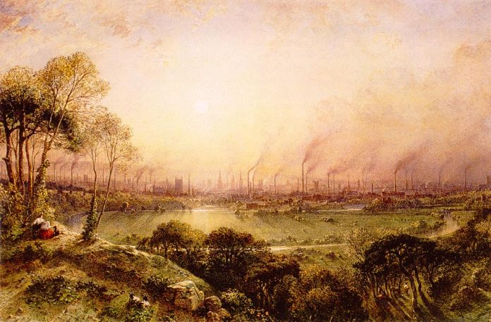 William Wyld, Manchester from Kersal Moor, 1857