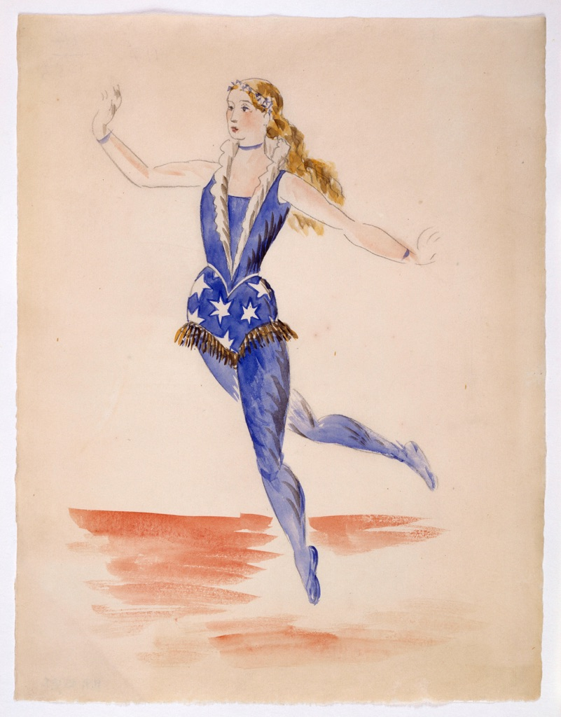 Pablo Picasso, Studio per il costume femminile dell'acrobata, 1917, acquerello e matita su carta velina fine da disegno Musée national Picasso-Paris, Photo © RMN-Grand Palais / Musée Picasso de Paris / Béatrice Hatala © Succession Picasso by SIAE 2017
