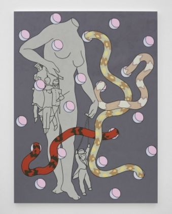 Caitlin Keogh, Requests and Privileges, 2017, acrylic on canvas, photo White Cube (George Darrell)