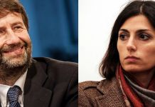Dario Franceschini e Virginia Raggi