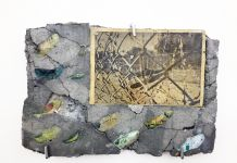 Matheus Rocha Pitta, Laje #24 (Thru), 2012, paper and cement, 35x21x2 cm