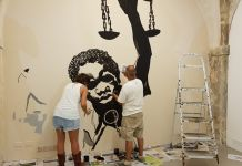 Galleria Laveronica, murales, making of
