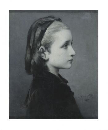 Célestin Joseph Blanc Head of a Girl, 1867 Oil on panel, 26.7 × 21.6 cm © Victoria and Albert Museum, London