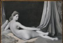 Jean-Auguste-Dominique Ingres and workshop Odalisque in Grisaille, about 1824-34 Oil on canvas, 83.2 × 109.2 cm The Metropolitan Museum of Art, New York, Catharine Lorillard Wolfe Collection, Wolfe Fund, 1938, 38.65 © The Metropolitan Museum of Art / Art Resource / Scala, Florence