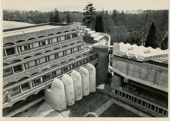 St. Peter's Seminary, (Andy MacMillan and Isi Metzstein—Gillespie, Kidd & Coia architectural practice, 1966), Glasgow, Scozia
