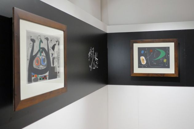 Mirò. Le lézard aux plumes d'or. Exhibition view at Villa Colloredo Meis, Recanati 2017