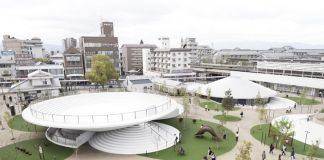 Nendo, Tenri Station plaza CoFuFun, photo by Takumi Ota