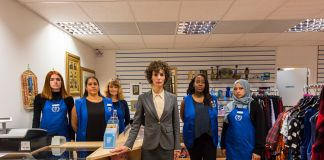 Miranda July, Interfaith Charity Shop (2017). Commission by Artangel. Photo Hugo Glendinning