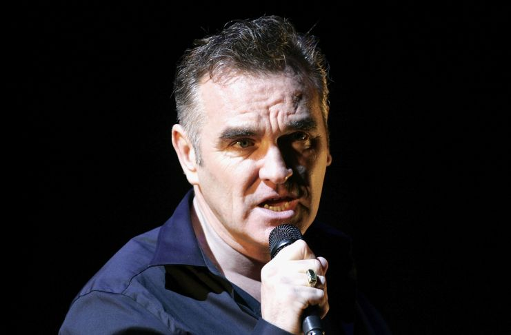 Morrissey performs at the V Festival In Hylands Park on August 20, 2006 in Chelmsford, England. (Photo by Jo Hale/Getty Images)