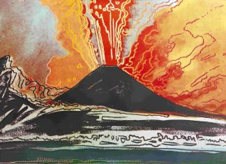 Andy Warhol, Vesuvius (nero), 1985. Collezione Intesa Sanpaolo © The Andy Warhol Foundation for the Visual Arts Inc. by SIAE 2017